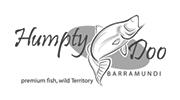 Humpty Doo Barramundi Logo Black White